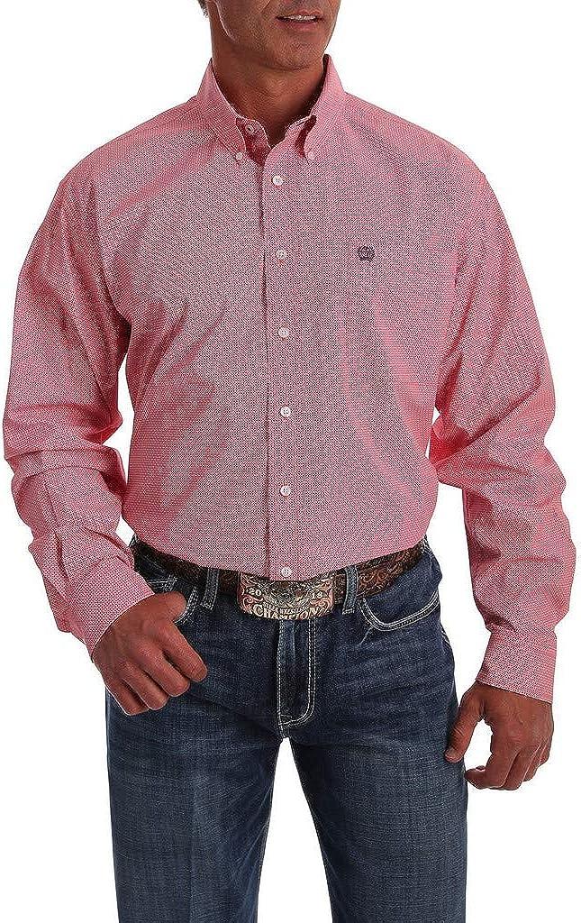 Cinch Men's Classic Fit Long Sleeve Button One Open Pocket Shirt
