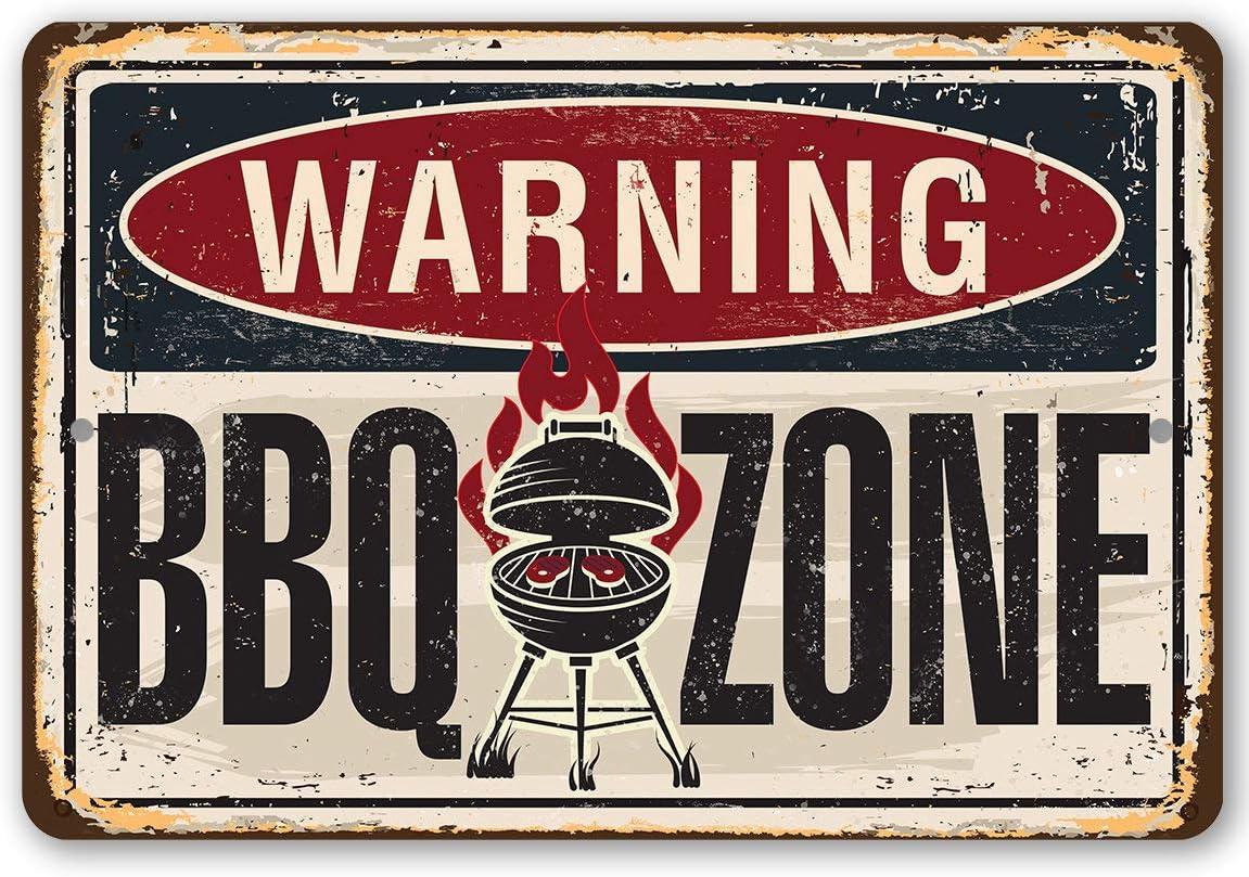 Plaque en m/étal avec inscription /« N// A /» en m/étal durable pour lint/érieur et lext/érieur Id/éal pour d/écorer un barbecue et un restaurant