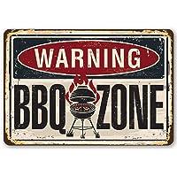 To243Finn - Señal metálica de Advertencia para Barbacoa