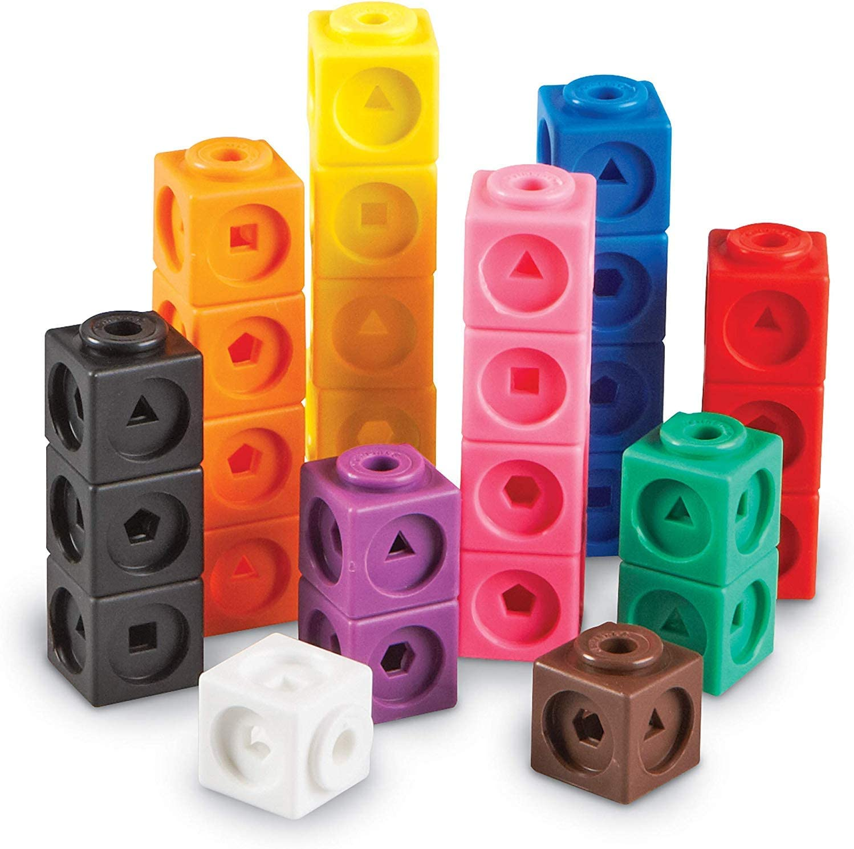 Learning Resources- Cubos Mathlink (Set de 100), Color (LER4285) , color, modelo surtido