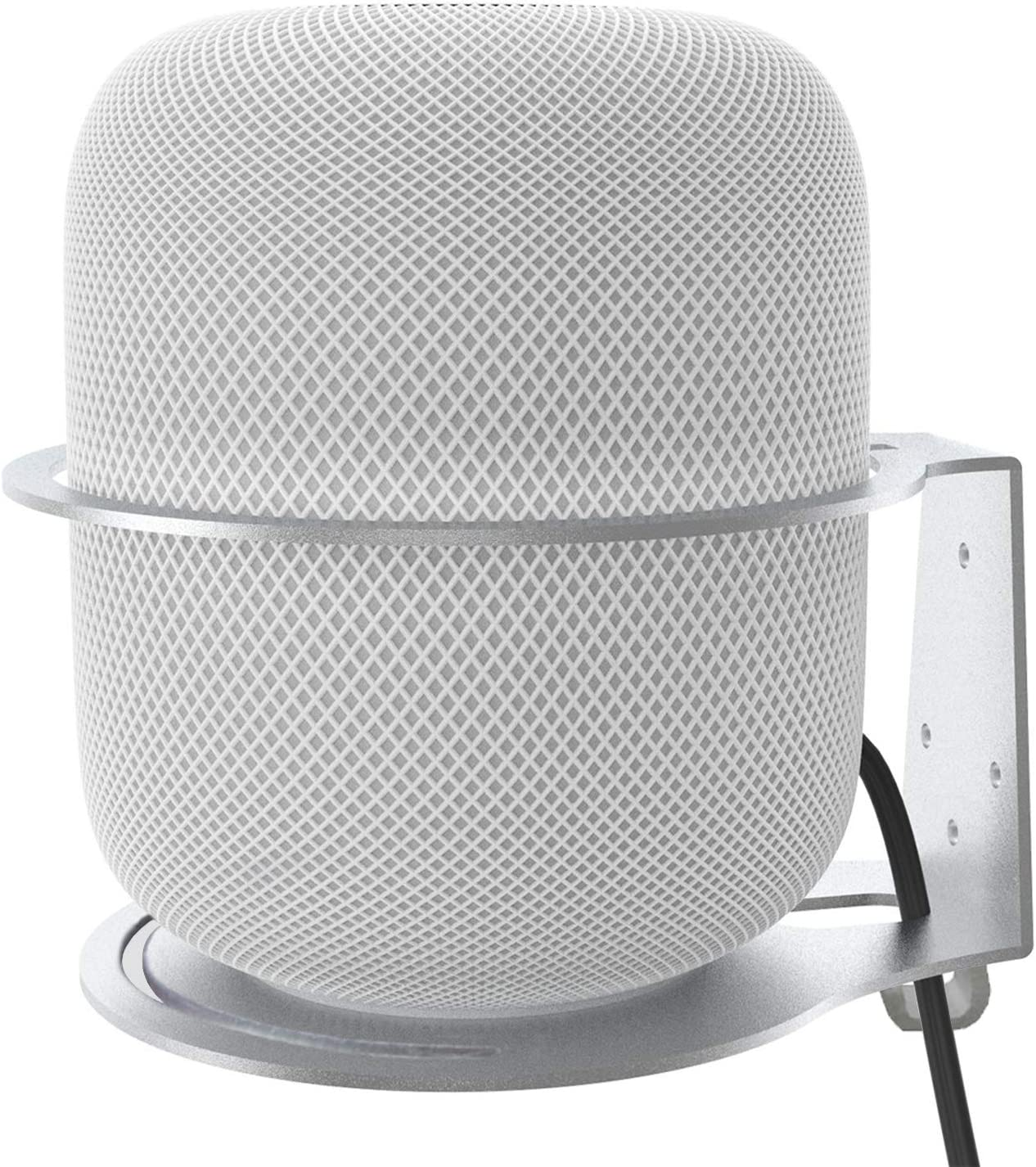 oGoDeal Wall Mount Stand Compatible with HomePod Aluminum Alloy Made Bracket Anti-Scroll Holder for HomePod Smart Speaker Accessories -Silver