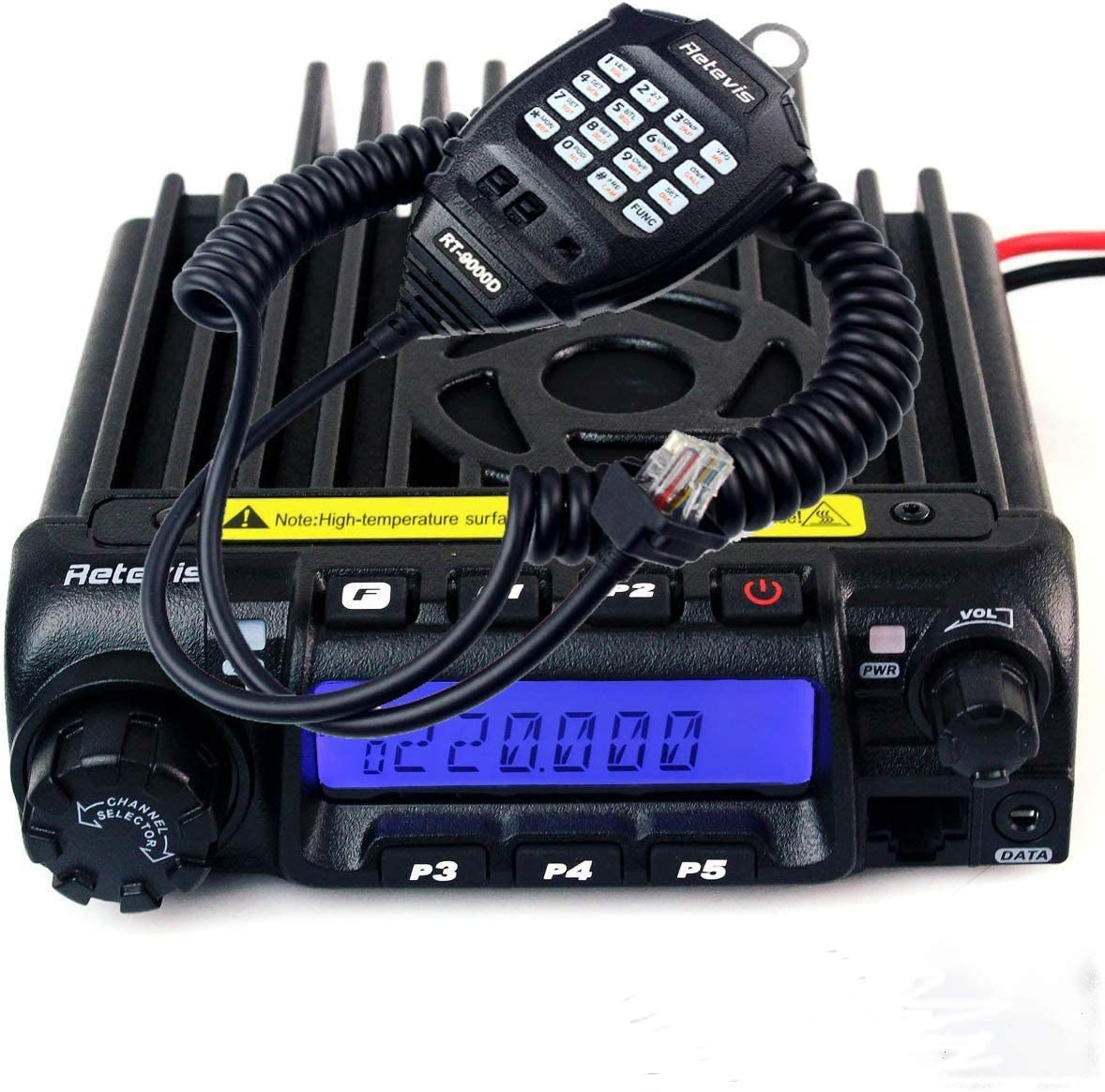 Retevis RT-9000D VHF Mobile Radio Transceiver 50 CTCSS 1024 DCS Car Mobile Radio 200CH Amateur Ham Radio Transceiver 1 Pack