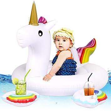 Tacobear Bebé Niño Flotador Unicornio Piscina Flotador ...
