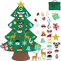 Vlovelife Vilt Kerstboom Voor Kinderen/peuters met 30 stks Opknoping Ornamenten & Opbergtas, DIY Xmas Boom voor Vakantie…
