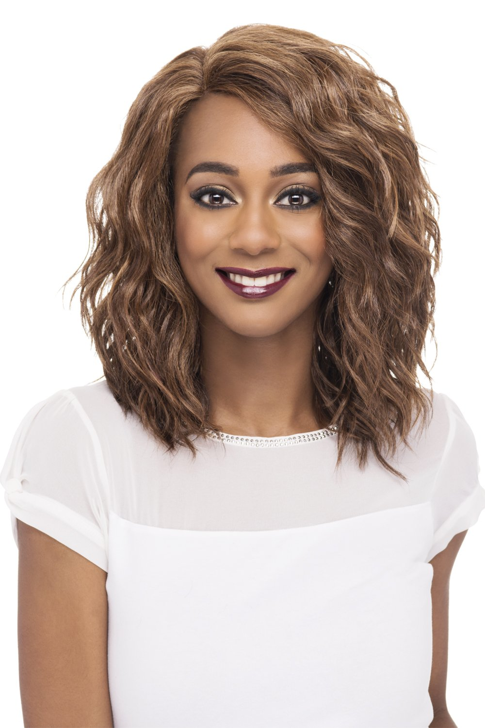 Vivica A Fox Hair Collection Finn - Natural Baby Lace Front Wig, New Futura Hair In Color, P4/27/30, 4.7 Ounce