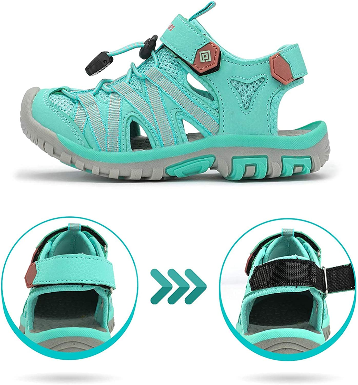 DREAM PAIRS Boys Girls Kids Outdoor Summer Sandals