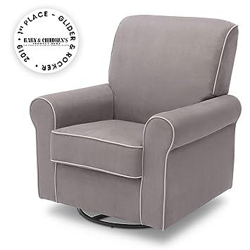 Astounding Delta Children Rowen Glider Swivel Rocker Chair Dove Grey Beatyapartments Chair Design Images Beatyapartmentscom
