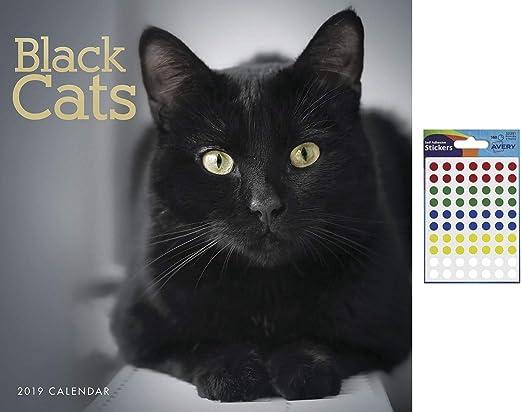 iPosters 2019 - Calendario de Pared (2 Unidades), diseño de Gatos Negros: Amazon.es: Juguetes y juegos