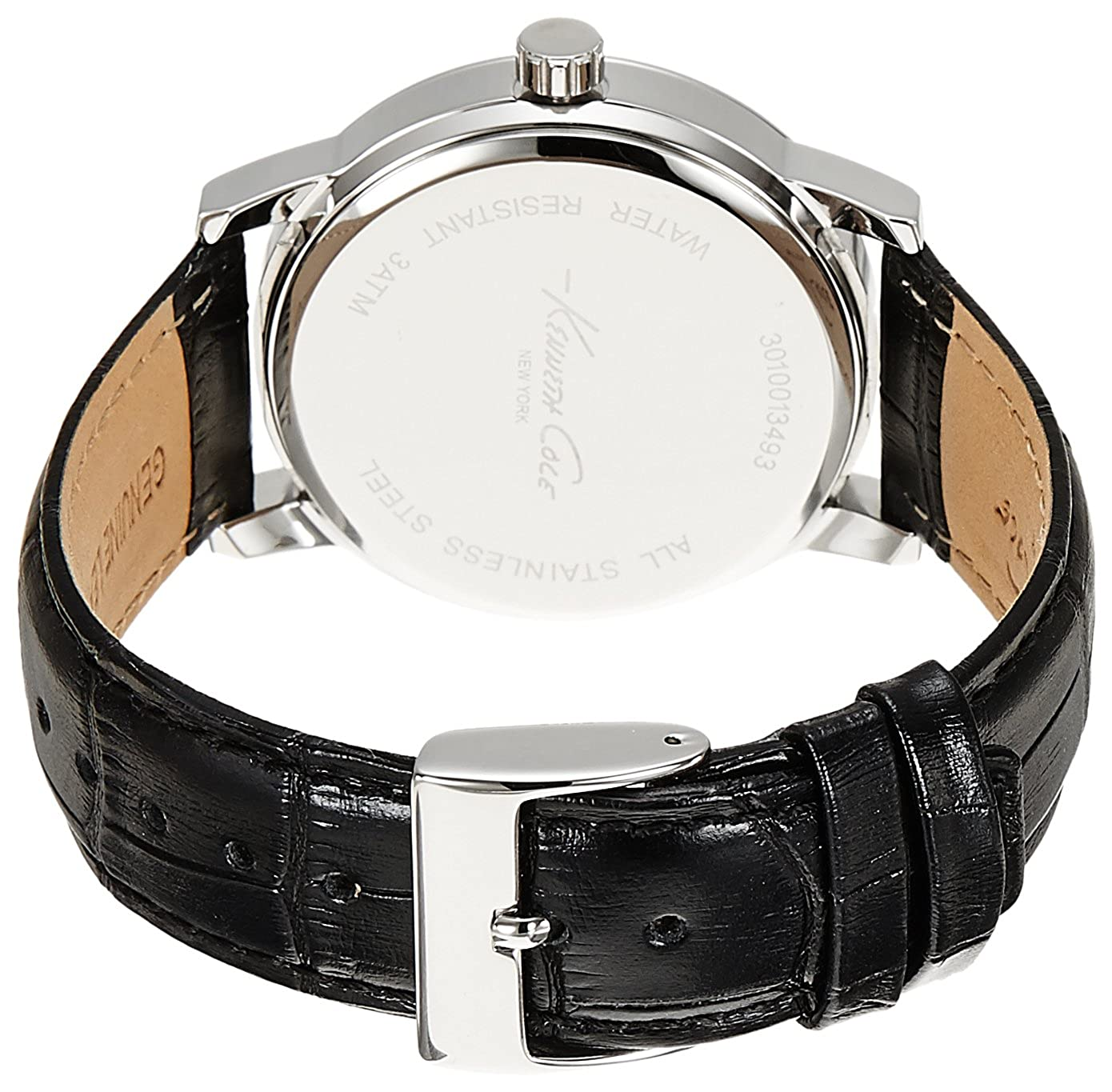 Kenneth Cole Watch New York Black Stainless Steel Case Leather Strap Emporio Armani Ar1828 Jam Tangan Pria Silver Amazoncom Mens Automatic And