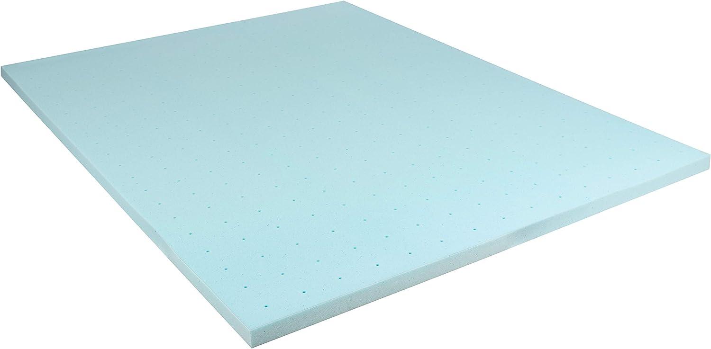 Flash Furniture Capri Comfortable Sleep 2 inch Cool Gel Memory Foam Mattress Topper - Queen
