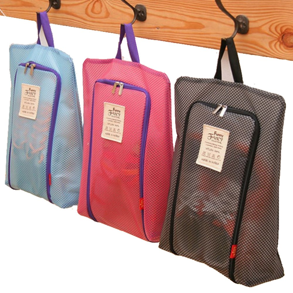 Travel Shoe Bags, Lightweight Waterproof Zippered Storage Bag for Men and Women