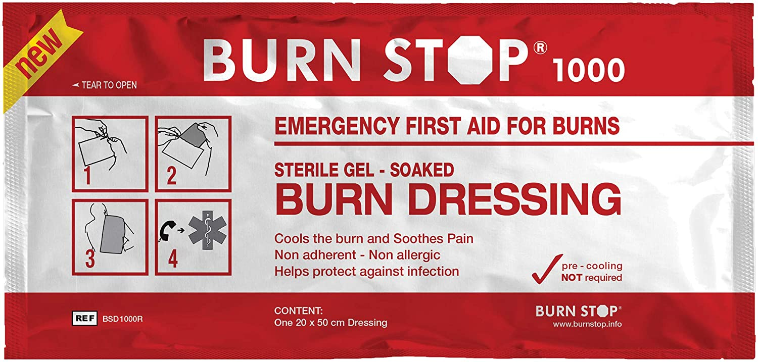 BurnStop First Aid Burn Dressing (20 x 20cm) Safety First Aid Group D8061