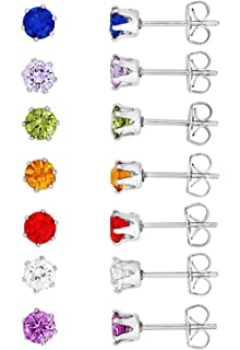 cubic shop stud on deal cz earring overstock cut zirconia earrings silver clear emerald amazing white sterling womens colored