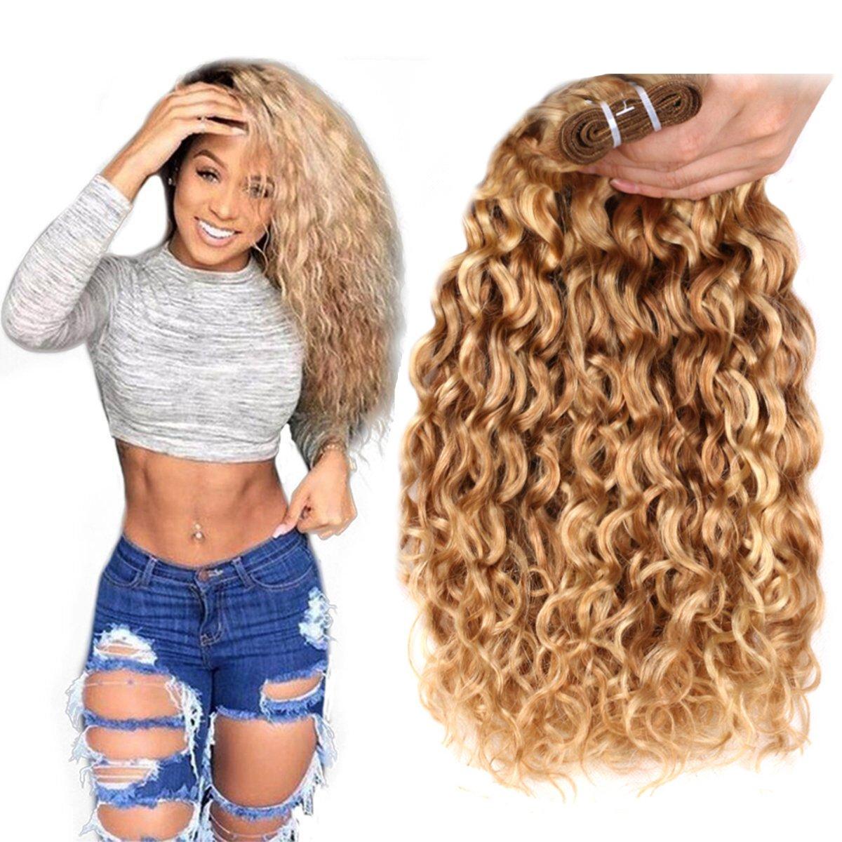 Amazon Fashion Line Brazilian P27613 Water Wave Curly Blonde