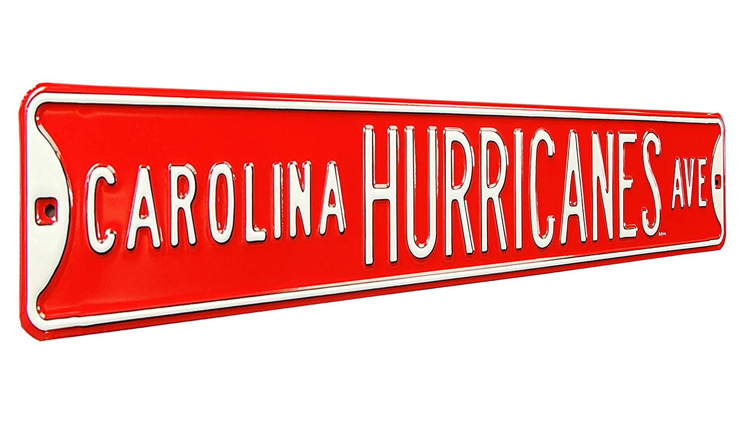 (Carolina Hurricanes, 90cm x 15cm ) - Authentic Street Signs NHL Officially Licenced, REAL 0.9m, Premium Grade Solid Steel Embossed STREET SIGN- Prime Wall Decor for Home, Office, Man Cave- Perfect Gift for Him B00FARY47S