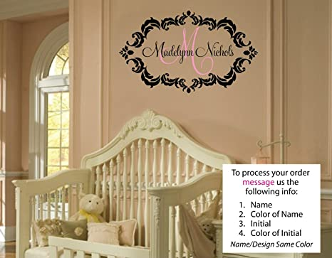 Amazon.com: Madelynn Decal Childrens Personalized Name - Childrens ...