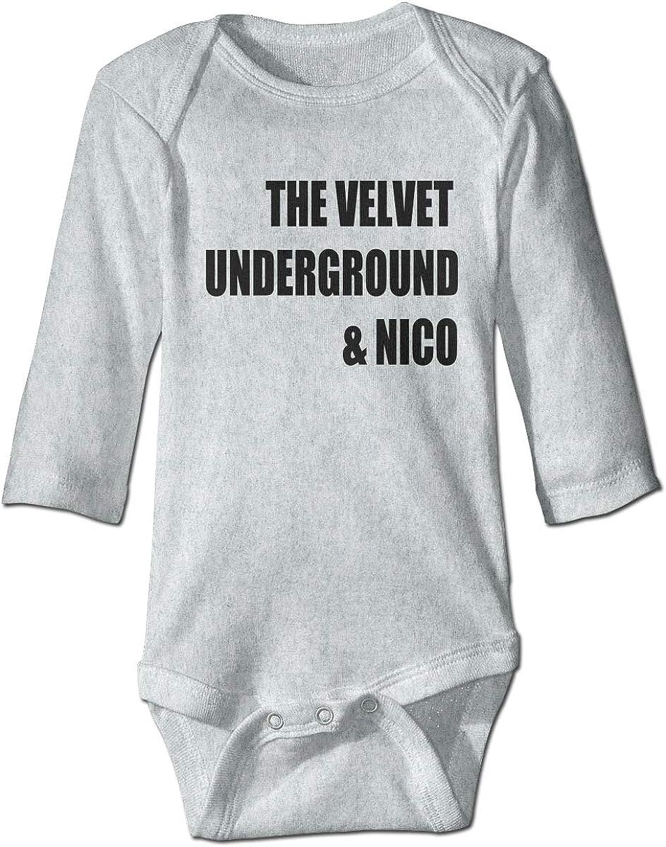 Smooffly Baby Boys Girls The Velvet Underground/&Nico Logo Long Sleeve Bodysuit Clothes Playsuits