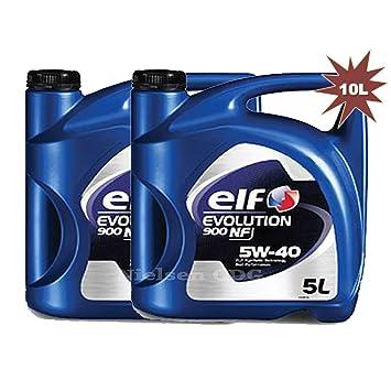 The Elf Company Evolución de elfo 900 NF 5 W-40 Aceite de motor 2 x 5 litros=10 litros: Amazon.es: Coche y moto