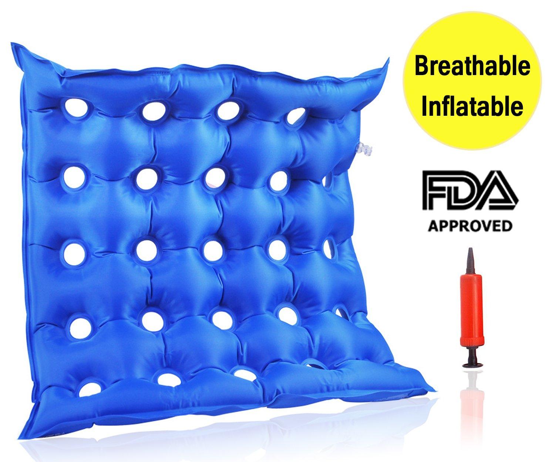 Premium Air cuscino gonfiabile sedile, termosaldato costruzione per Durabilityd cuscino per sedia a rotelle e Day to Day use ideale per prolungata seduto, approvato dalla FDA Amison