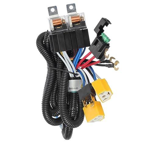 Amazon Ditrio H4 9003 Headlight Relay Wiring Harness Kit Dual. Ditrio H4 9003 Headlight Relay Wiring Harness Kit Dual High Low Beam Headl Whigh. Wiring. H4 Headlight Relay Wiring Harness At Scoala.co