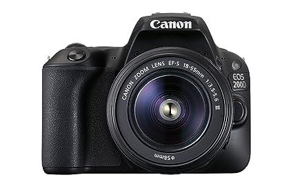 Canon EOS 200d cámara Digital réflex y Canon EF-S 18 - 55 mm f/3.5 ...
