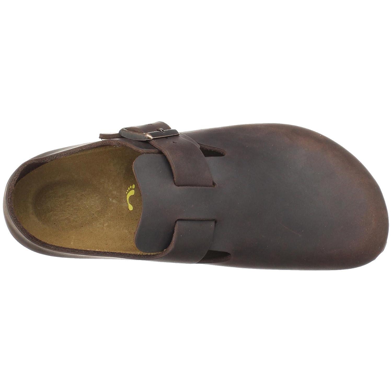 Amazon.com | Birkenstock Unisex London Slip-On, Habana Oiled Leather, 38 M  EU | Flats