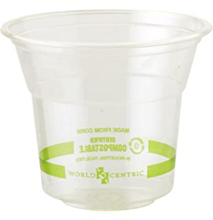 World Centric CP-CS-5 Compostable Ingeo Cups, 5 oz, Clear (