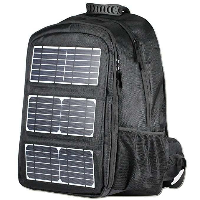 b6461ab8f046 ECEEN Backpack High Capacity 48L for Laptops Up to 17-Inch, 10W Solar Panel  Charger with Voltage Regulater & USB Output Port, Solar Charger for Power  ...