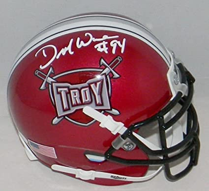 6248a824fa5 Image Unavailable. Image not available for. Color  Demarcus Ware  Autographed Signed Troy Trojans Mini Helmet - JSA ...