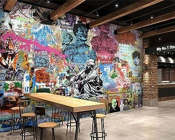 Wapel Modern 3d Wallpaper Figure Graffiti Hotel Bedroom Tv Living
