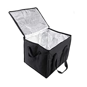 BFEERgirl Insulated Pizza Delivery Bags, Thermal Food Warmer, Resuable Transportation Bag, Hot or Cold Food Take Away Bag for Uber Eats, Instacart, Doordash, Postmates, Restaurant, Catering, Grocery Transport Hold Up to 7-14