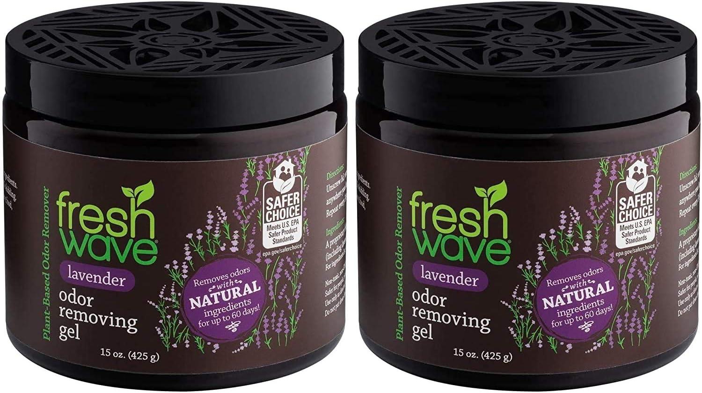 Fresh Wave Lavender Odor Removing Gel, 15 oz. (Pack of 2)