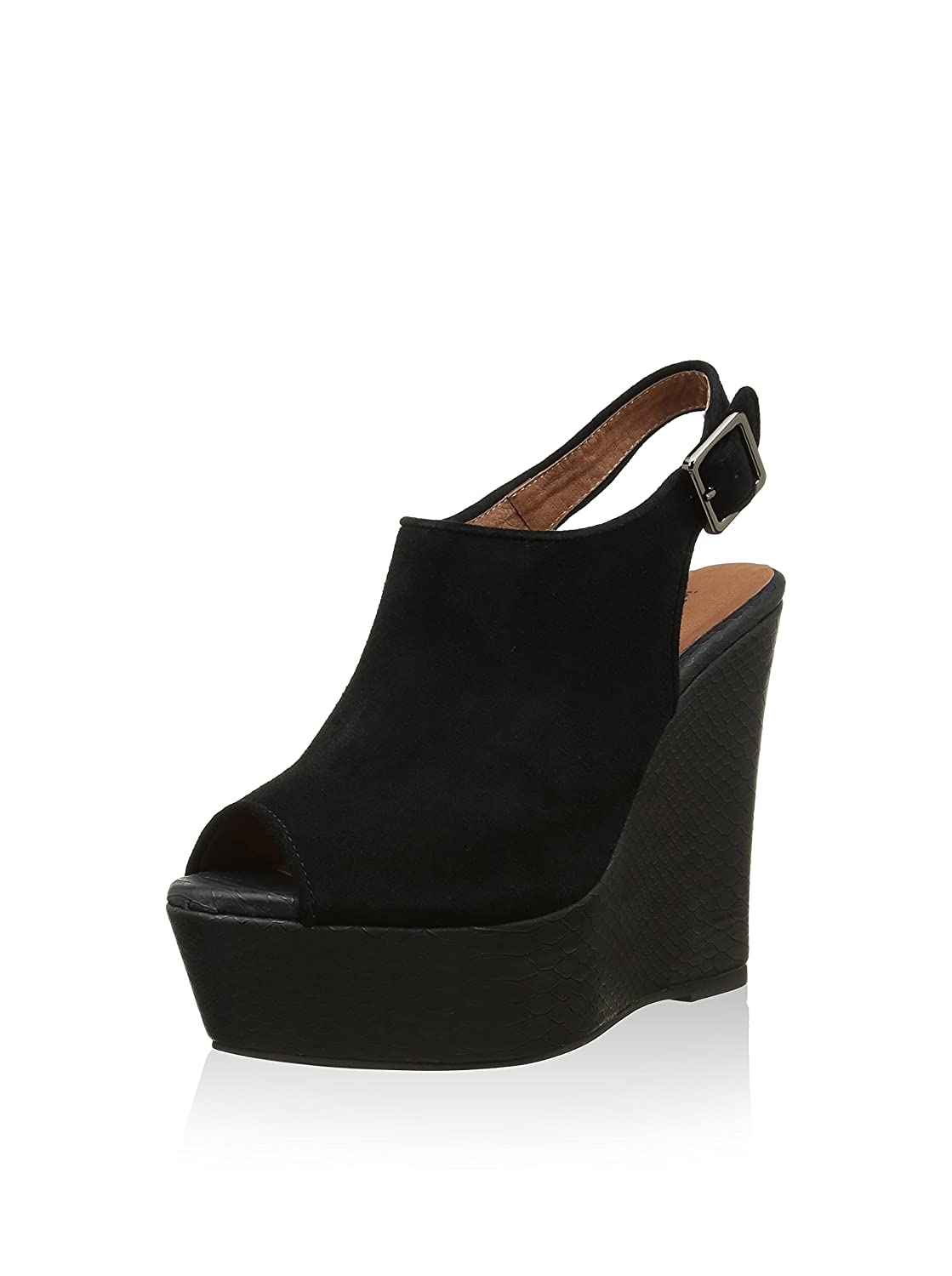 Jeffrey Campbell Dexter wedge sandal in black suede