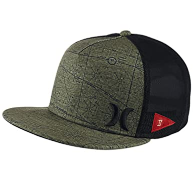 low priced 83546 4ff0c Amazon.com  Hurley Men s JJF Maps Hat, Cargo Khaki, One Size  Clothing