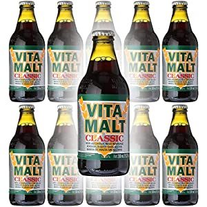 Vita Malt Classic, Non-Alcoholic Malt Beverage, 11oz Glass Bottle (Pack of 10, Total of 110 Fl Oz)