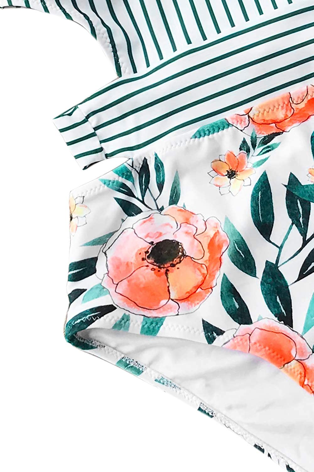 bd0070ca4c CUPSHE Womens Lilies Print Tank Top One-Piece Swimsuit CYY1100 Clothing &  Accessories Swim