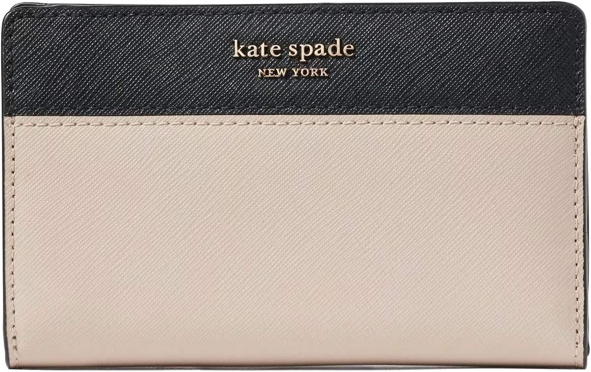 Kate Spade New York Cameron Medium Bifold Wallet Warm Beige Black