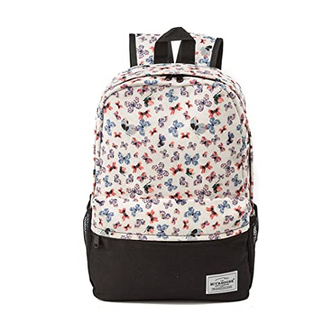 Amazon.com: Smile Emoji Face Print Backpack Female Fashion Colorful ...