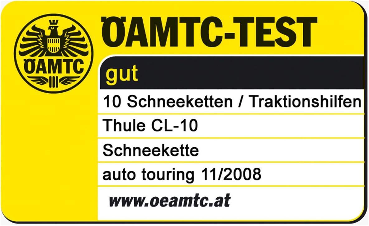 Schneeketten Set Thule Cl 10 Schneeketten Adac Testsieger Für 225 60 R18 Im Set Mit Hochwertigen Handschuhen Auto