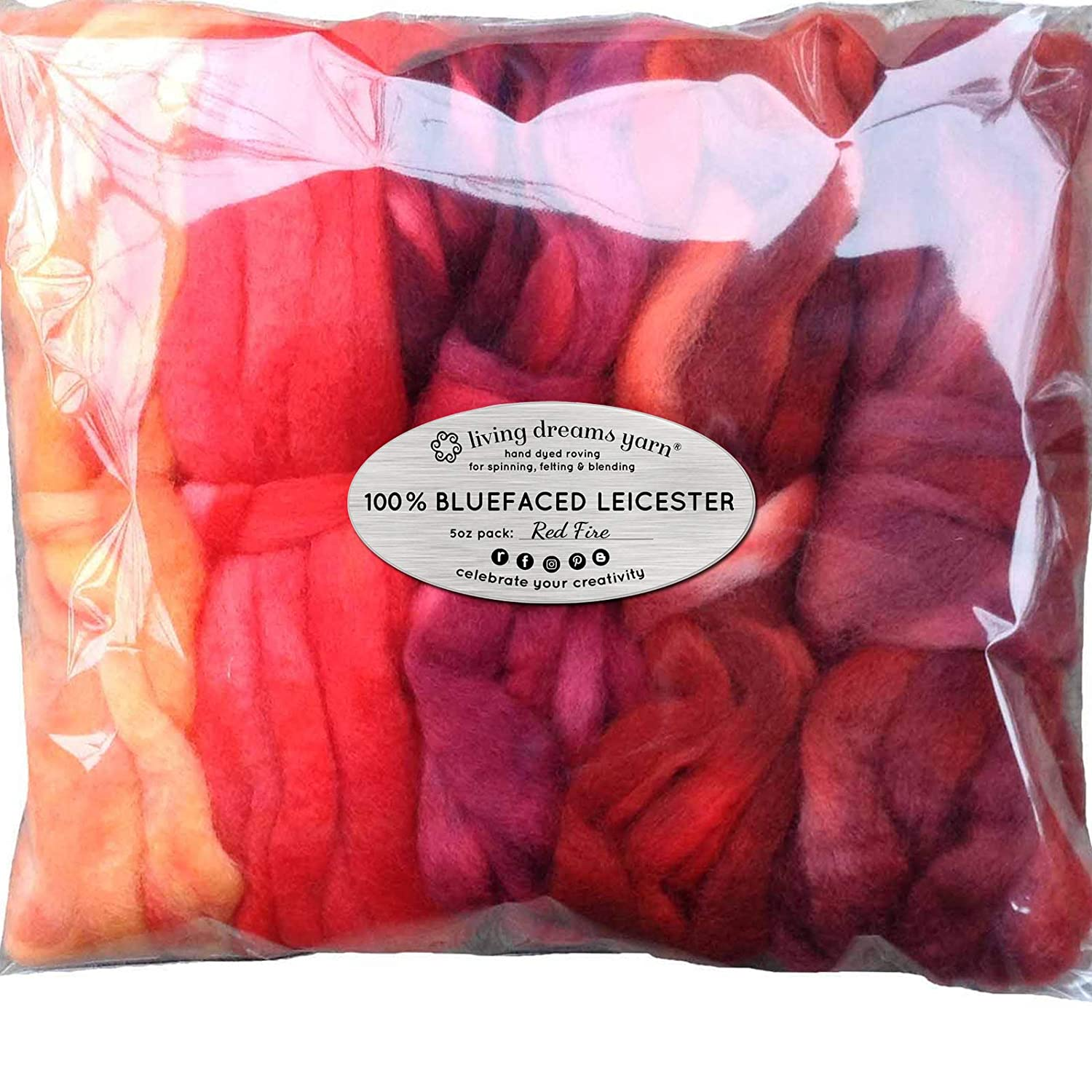 Washable Rugs Denby Dale: L Dyed Corriedale Wool Red Spinning Or Felting Fiber