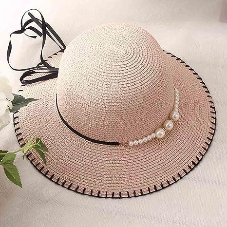 Honey Primavera Verano Sombrero De Pescador De Mujer Decoración De Perlas  Plegable Sombrero para El Sol 8e5f2bcbf9e