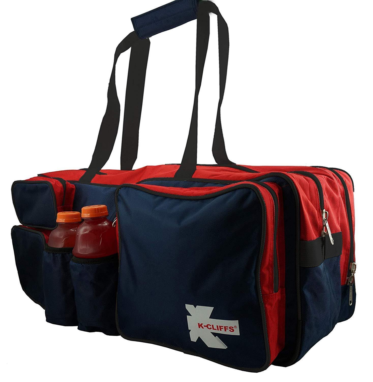 特売 K-Cliffs navy/red/black テニスラケットバッグ 高耐久 高耐久 バドミントンラケットバッグ デラックス品質 バリスティックナイロン スカッシュギアダッフルバッグ シューズコンパートメント&ウォーターボトルホルダー2つ navy B07GBJYBTX/red/black B07GBJYBTX, 【激安セール】:eb2aeccb --- svecha37.ru