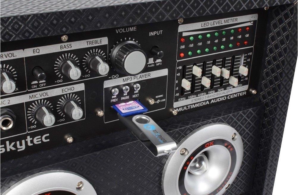 Skytec KA-28 1200W Noir, Acier Inoxydable Set d'enceintes - Sets d'enceintes (1200 W, Universel, 1200 W, 50-20000 Hz, 8 Ohm, 20,3 cm (8