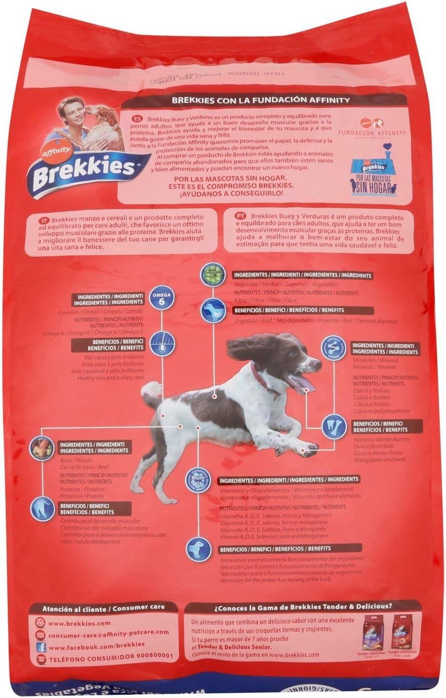 BREKKIES EXCEL alimento para perros con buey y verduras bolsa ...
