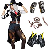 COSTHEME Overwatch Ashe Cosplay Costume, Officially Licensed, Elizabeth Caledonia Halloween Game Anime Outfit for Women
