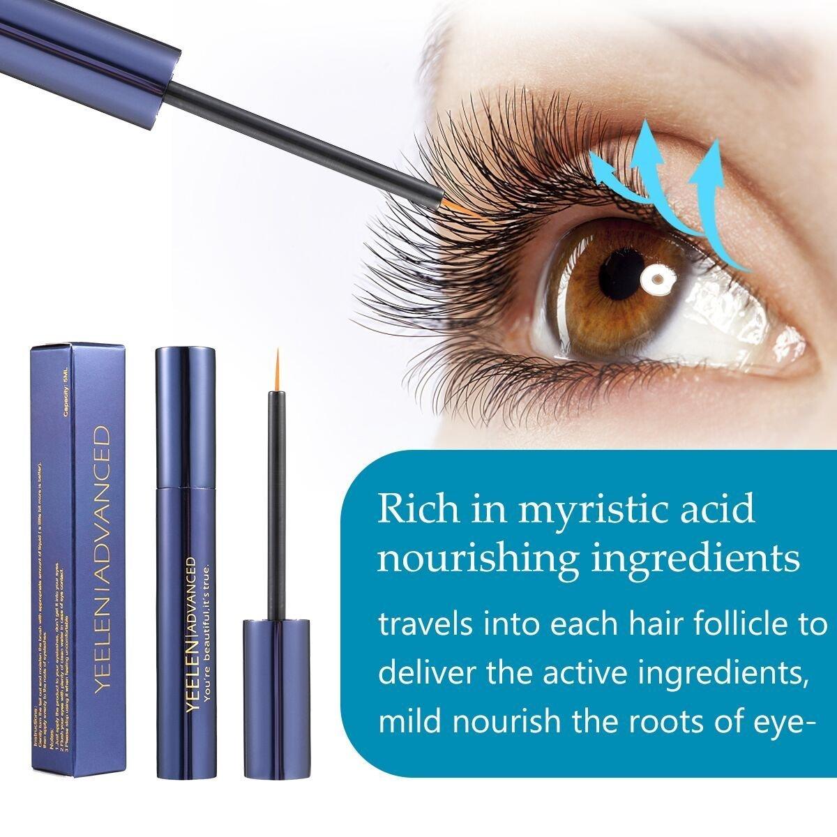Yeelen Eyelash Eyebrow Growth Serum Grows Longer, Fuller, Thicker Lashes & Brows in 45 days! Enhancer Eyelash Conditioner Non-prescription Eyelash Serum 5ml by Yeelen (Image #2)