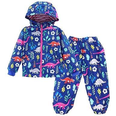 49ef92649e67 Amazon.com  LZH Toddler Boys Girls Raincoat Waterproof Hooded Jacket ...