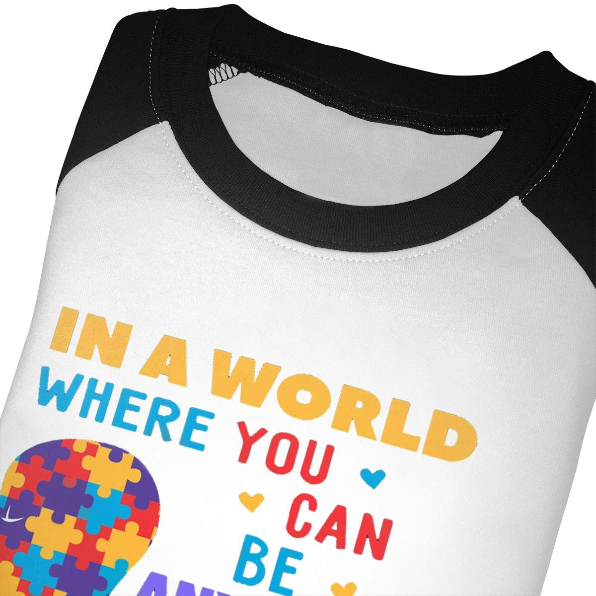 in A World Where You Can Be Anything Be Kind Unisex Toddler Baseball Jersey Contrast 3//4 Sleeves Tee