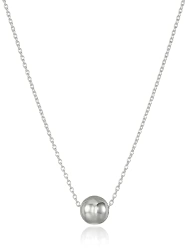 Amazon sterling silver polished ball pendant necklace 18 jewelry aloadofball Images