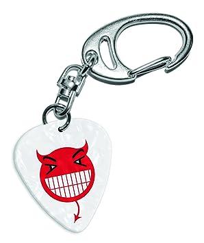 Llavero de púa para guitarra con diseño de emoticón con ...
